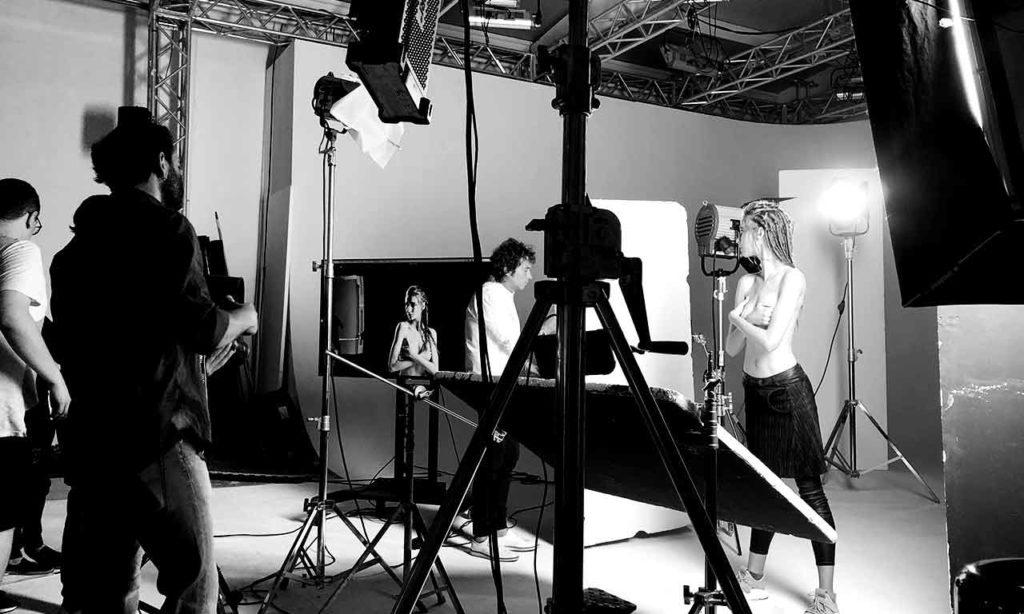 studio fotografico Biella Zin moda set backstage