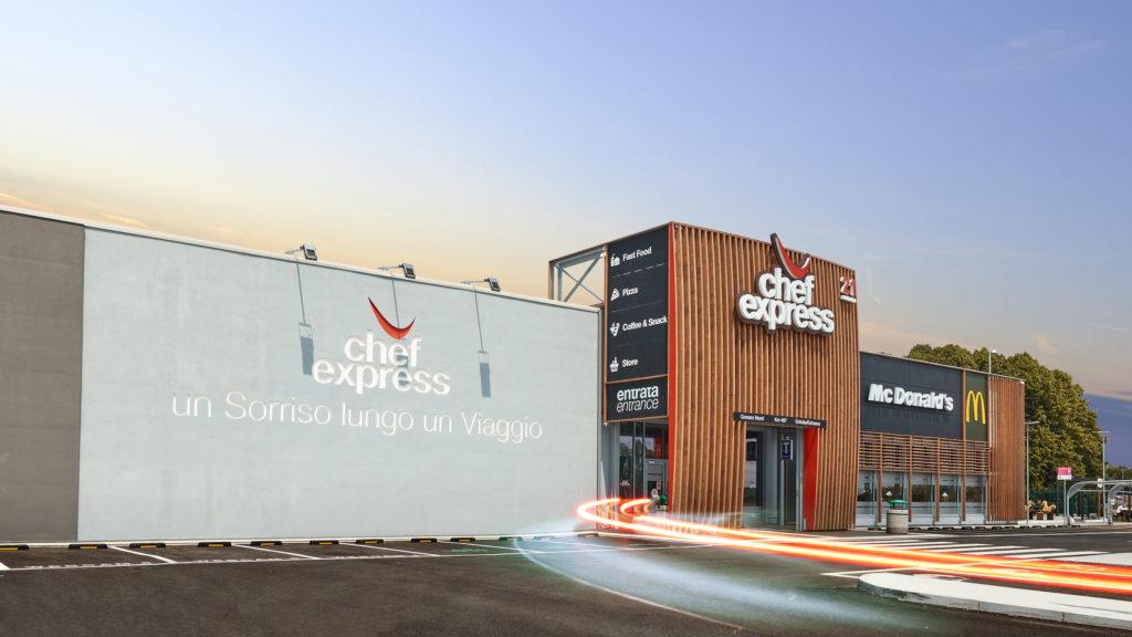 Chef Express area di sosta, fotografia architettura