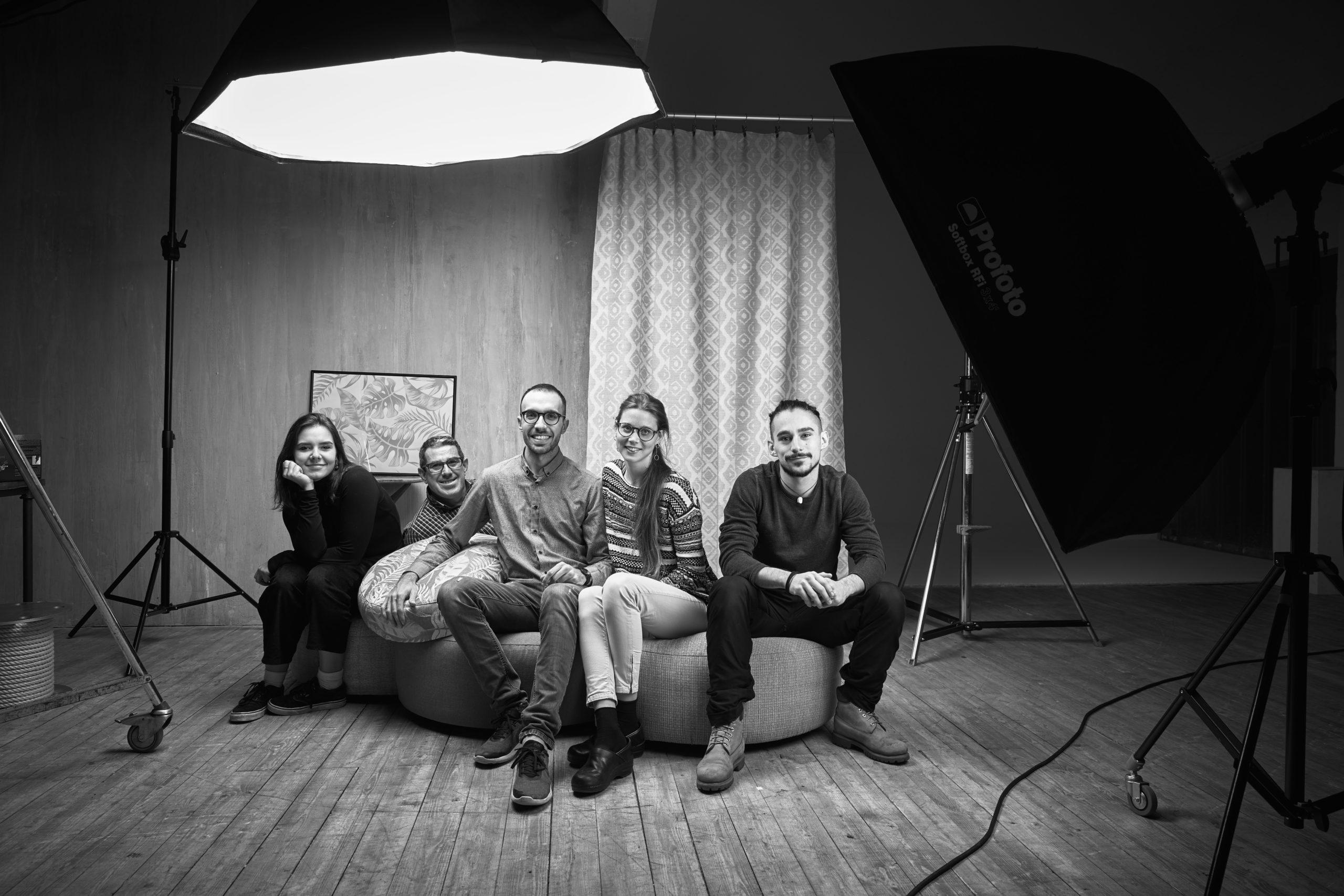 studio fotografico Biella Zin tessuti set backstage